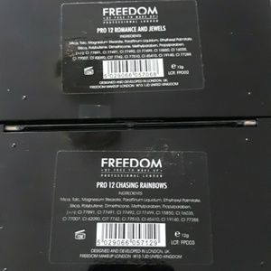 Freedom Makeup Makeup - Freedom Makeup bundle of 2 eyeshadow palettes new